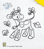 Nellie Snellen - Koetie Clear Stamp - Koetie with Insect Friends
